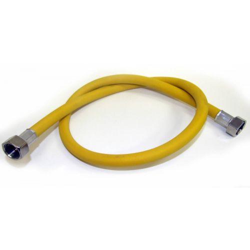 Подводка для газа TUBOFLEX ПВХ 2,0 м гайка/гайка жёлтый фото