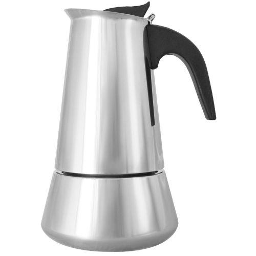 Гейзерная кофеварка ITALCO Induction (6 чашек) серебристый фото