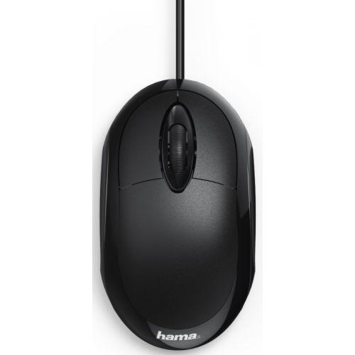 Мышь проводная HAMA MC-100 чёрный черного цвета