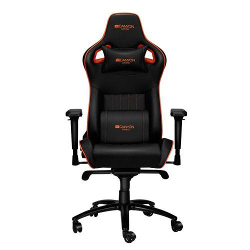 Кресло компьютерное Canyon Corax CND-SGCH5 черный/оранжевый фото