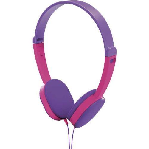 Проводные наушники HAMA Kids фиолетовый/розовый цвет фиолетовый/розовый