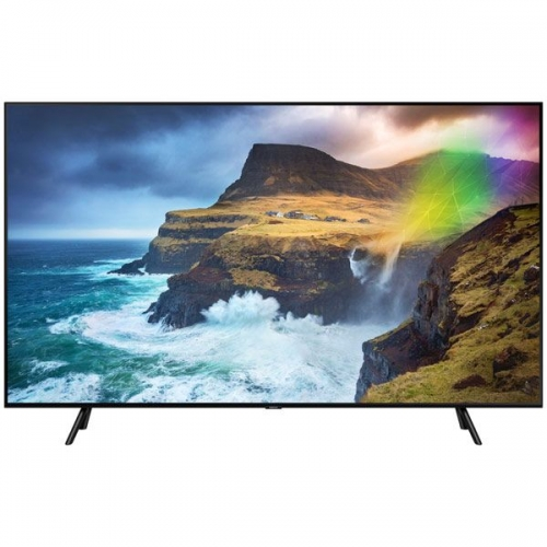 "Телевизор Samsung QLED QE49Q70RAU 49"" (2019) чёрный черного цвета"