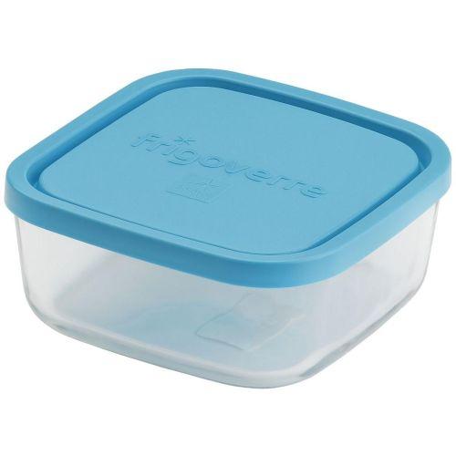 Контейнер пищевой s3 Bormioli Rocco Frigoverre квадратный с синей крышкой 15*15 см 750 мл прозрачный фото