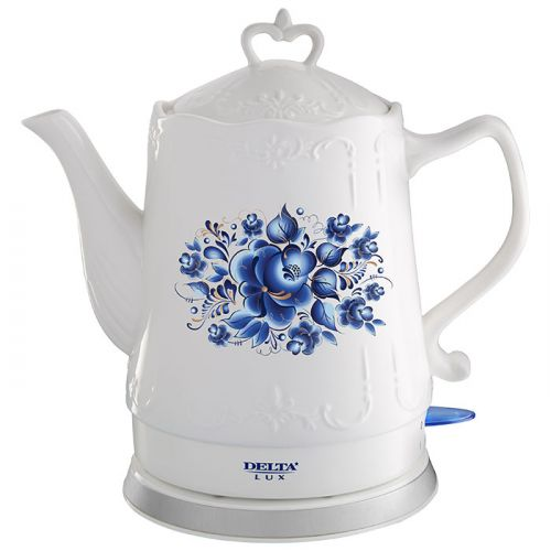 Электрический чайник DELTA LUX DL-1237 гжель фото