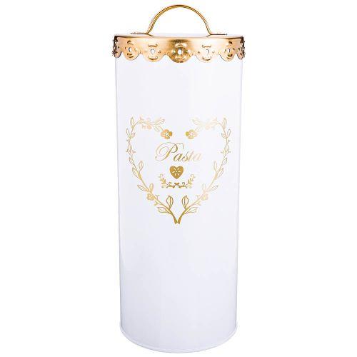 Емкость для хранения Арти М 790-138 Спагетти 27*11 см белый/золотой фото