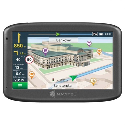GPS-навигатор Navitel E505 Magnetic чёрный черного цвета