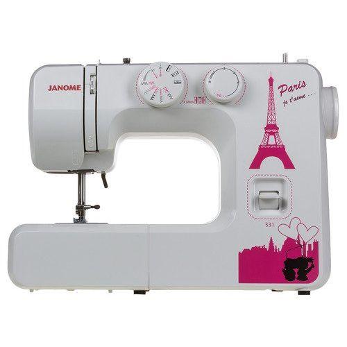 Швейная машина Janome Janome 331 белый/розовый фото