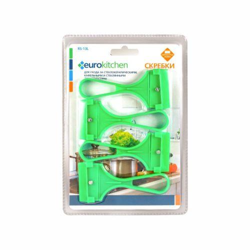 Набор скребков EURO Kitchen RS-13L салатовый фото
