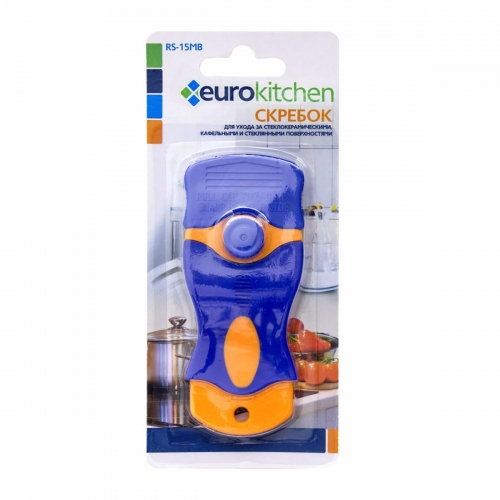 Скребок для чистки EURO Kitchen RS-15MB оранжевый/синий фото