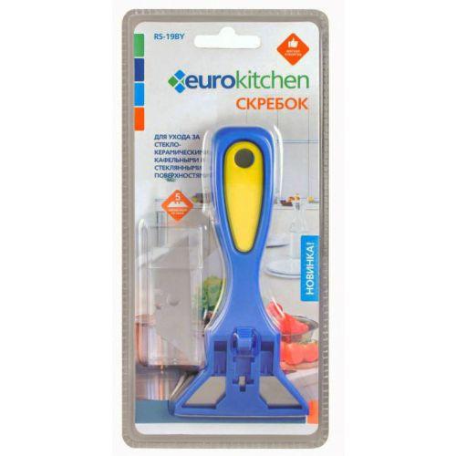 Скребок для чистки EURO Kitchen RS-19BY синий/жёлтый фото