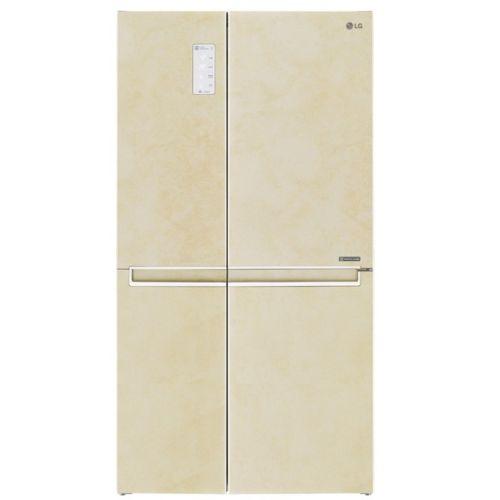 Холодильник Side-by-Side LG GC-B247 SEUV бежевый металлопласт фото