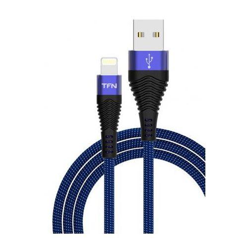Кабель USB TFN Apple Lightning 2.4A 1.0 m синий/чёрный фото