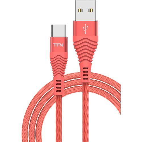 Кабель USB TFN TypeC forza 1.0m коралловый фото