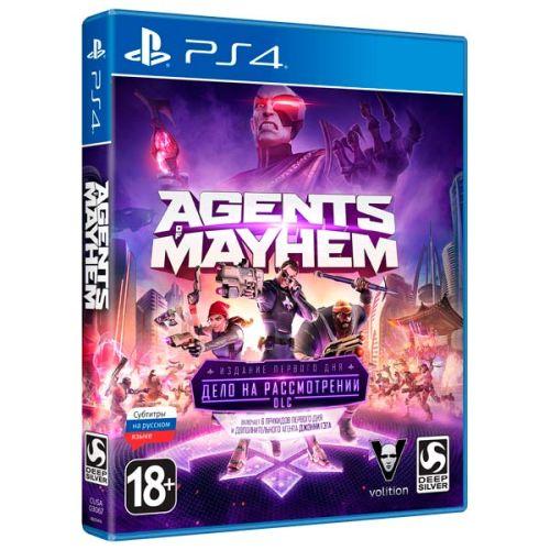 Игра для Sony PS4 Agents of Mayhem. Издание первого дня, русские субтитры фото
