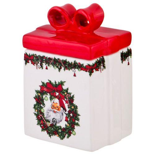 Банка для сыпучих продуктов Арти М 116-503 Рождественское чудо Бантик 8*6*12 см 350 мл фото