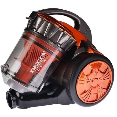 Пылесос с контейнером для пыли DELTA DL-0834 оранжевый/серый фото