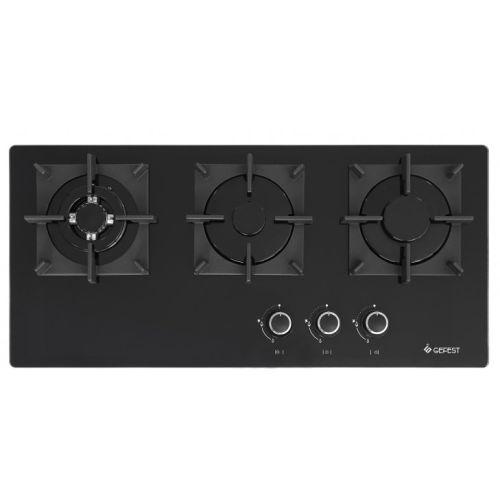 Встраиваемая газовая панель Gefest ПВГ 2150-01 К33 чёрный фото