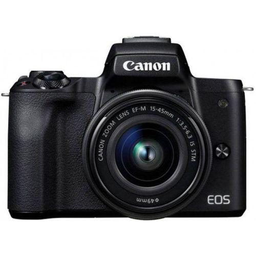 Цифровой фотоаппарат Canon EOS M50 15-45 IS STM черный черного цвета