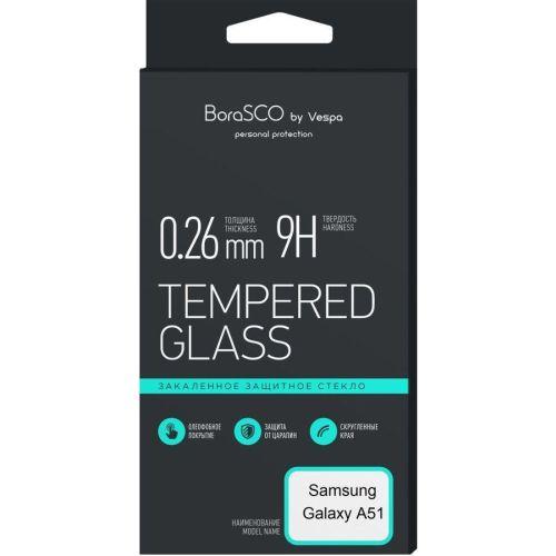 Защитное стекло Vespa BoraSCO Samsung Galaxy A51 чёрный фото