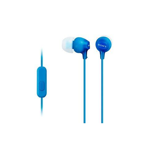 Проводные наушники Sony MDR-EX15AP синий синего цвета
