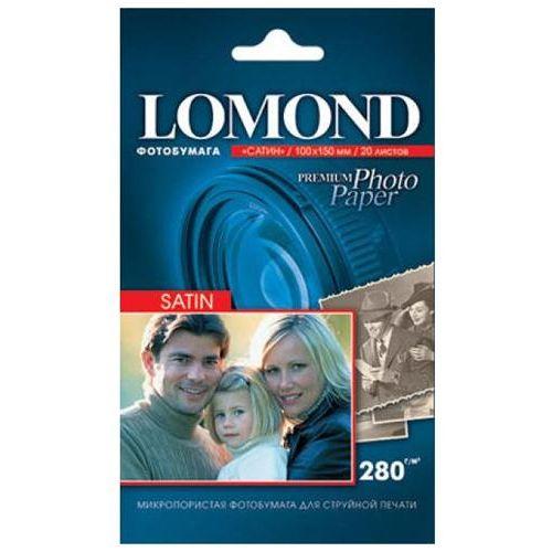 Фотобумага Lomond 10x15 280г/м,20л., сатин фото
