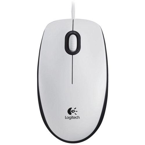 Мышь проводная Logitech Mouse M100 белый белого цвета