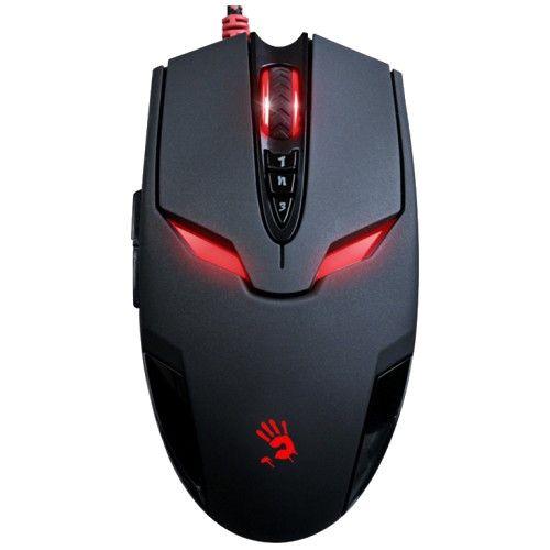 Мышь проводная A4tech Bloody V4 black чёрный черного цвета