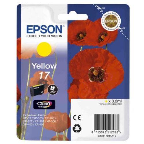 Картридж для струйного принтера Epson Expression Home XP 17 yellow фото