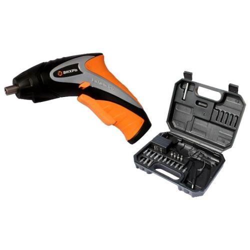 Аккумуляторная отвертка Вихрь ОА-3,6-К оранжевый/чёрный цвет оранжевый/чёрный