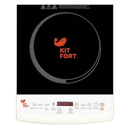 Кухонная плитка Kitfort КТ-101 чёрный/белый цвет чёрный/белый