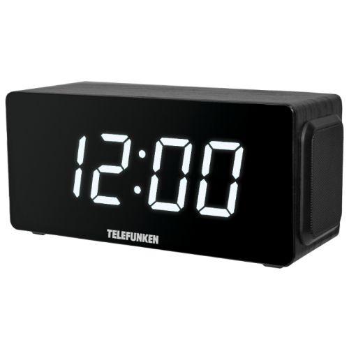 Радиоприемник с часами Telefunken TF-1566U чёрный/белый цвет чёрный/белый