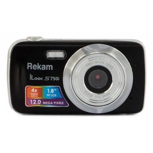 Цифровой фотоаппарат Rekam iLook S750i чёрный черного цвета