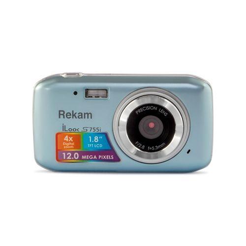 Цифровой фотоаппарат Rekam S755i серый серого цвета