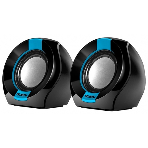Компьютерные колонки Sven 150 чёрный/синий цвет чёрный/синий