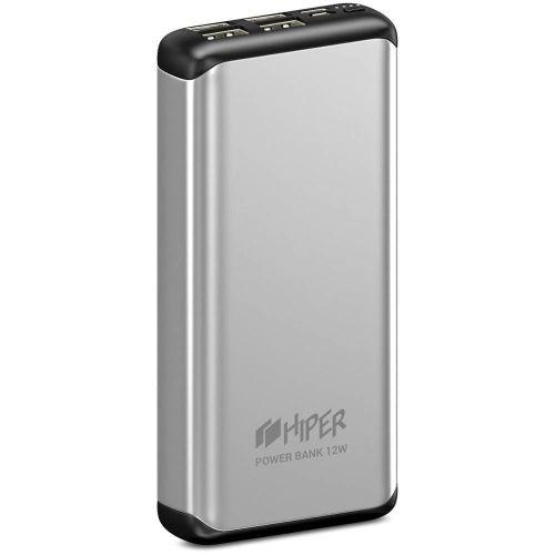 Портативный внешний аккумулятор Hiper MS20000 серебристый серебристого цвета