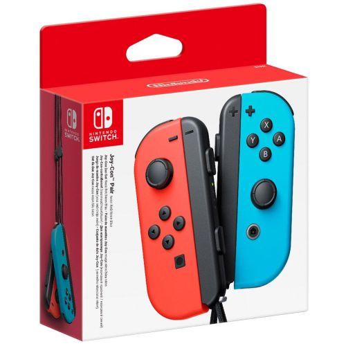 Геймпад для приставки Nintendo Joy-Con (неоновый красный/неоновый синий)