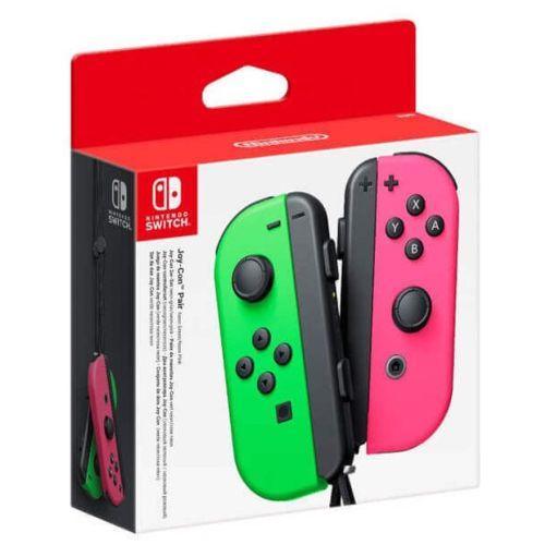 Игровой контроллер Nintendo Joy-Con (неоновый зеленый/неоновый розовый)