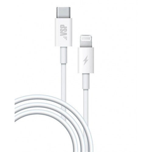 USB кабель Vespa BoraSCO Type-C - 8 pin Power Delivery 1m. (38525) черный фото