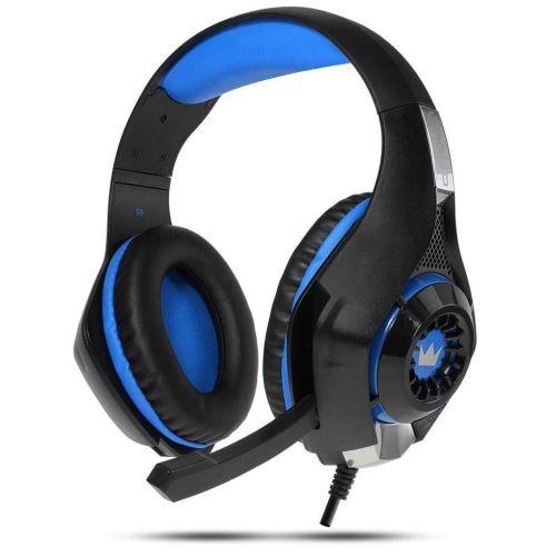Компьютерная гарнитура CROWN CMGH-101T черно-синий черно-синего цвета
