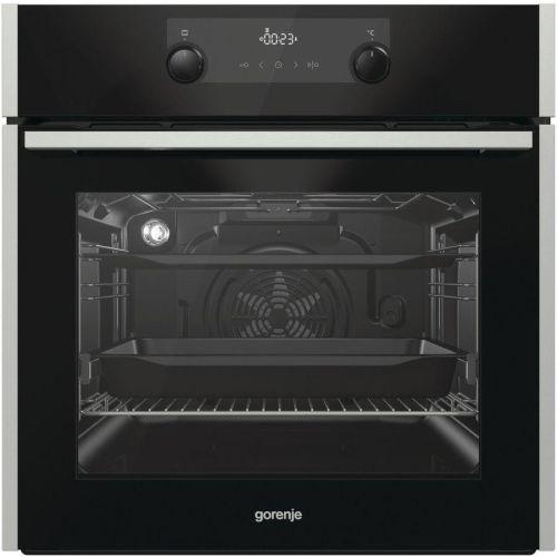 Электрический духовой шкаф Gorenje BPS737E20XG нержавеющая сталь/чёрный цвет нержавеющая сталь/чёрный