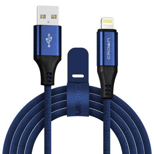 Кабель USB CROWN CMCU-3103L синий синего цвета