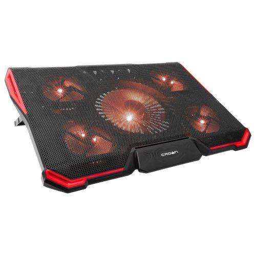 Охлаждающая подставка для ноутбука CROWN CMLS-k330 черно-красный черно-красного цвета