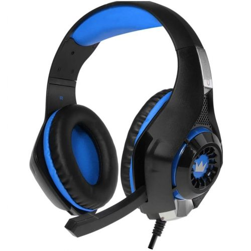 Компьютерная гарнитура CROWN CMGH-102T черно-синий черно-синего цвета