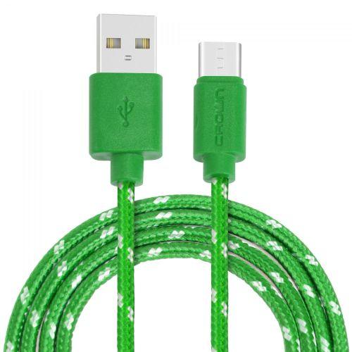 Кабель USB CROWN CMCU-3042C зелёный цвет зелёный