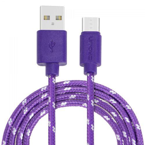 Кабель USB CROWN CMCU-3042C фиолетовый фиолетового цвета