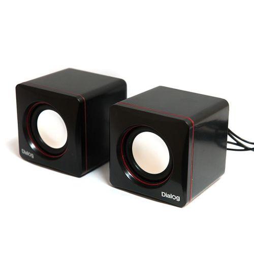 Компьютерная акустика Dialog AC-04UP черно-красный черно-красного цвета