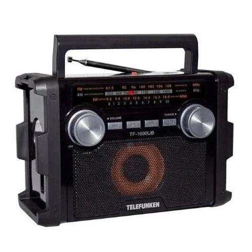 Радиоприемник Telefunken TF-1690UB чёрный черного цвета
