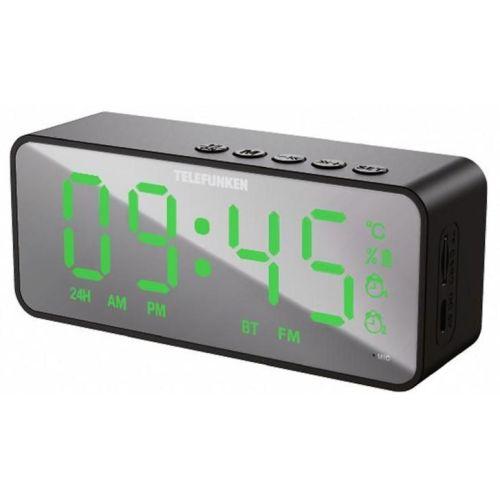 Радиоприемник с часами Telefunken TF-1710 black черного цвета