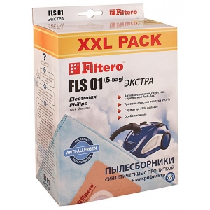 все цены на Мешок-пылесборник Filtero FLS 01 (S-bag) XXL Pack ЭКСТРА 8 штук + микрофильтр онлайн