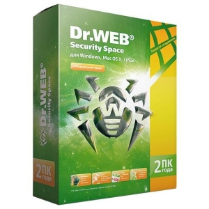Антивирусная программа Dr. Web Security Space 2ПК на 2 года